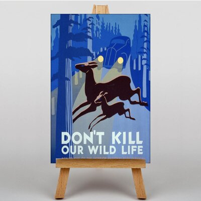 Big Box Art Don't Kill Our Wildlife Graphic Art on Canvas