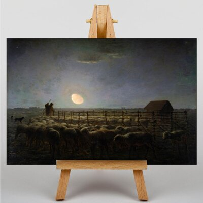 Big Box Art The Sheepfold, Moonlight by Jean-Francois Millet Art Print on Canvas