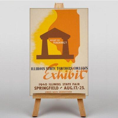 Big Box Art Exhibit Vintage Advertisement on Canvas