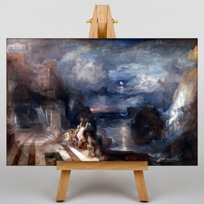 Big Box Art Hero and Leander by Joseph Mallord William Turner Art Print on Canvas