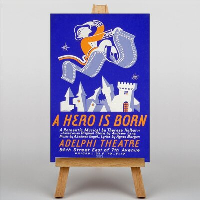Big Box Art A Hero is Born Vintage Advertisement on Canvas
