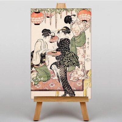 Big Box Art Vintage Japanese Oriental No.15 by Kitagawa Utamaro Art Print on Canvas