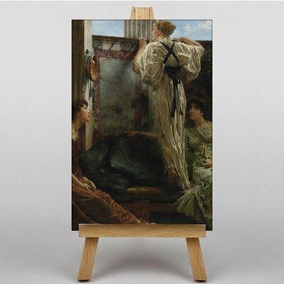 Big Box Art Who is it by Lawrence Alma-Tadema Art Print on Canvas