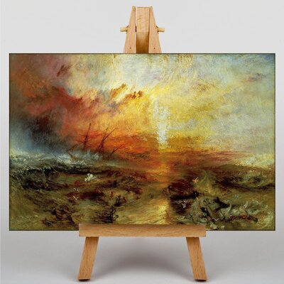 Big Box Art The Slave Ship by Joseph Mallord William Turner Art Print on Canvas