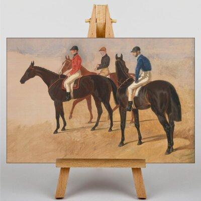 Big Box Art Steeplchase Cracks by John Frederick Herring Art Print on Canvas