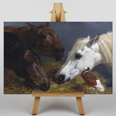 Big Box Art Three Horses by John Frederick Herring Art Print on Canvas