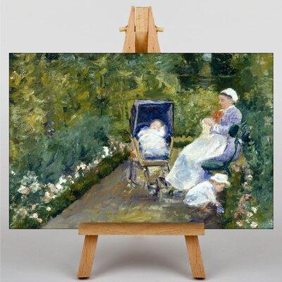 Big Box Art Children in the Garden by Mary Cassatt Art Print on Canvas