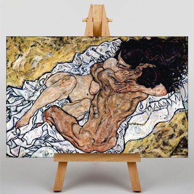 Big Box Art Pair Embracing by Egon Schiele Art Print on Canvas