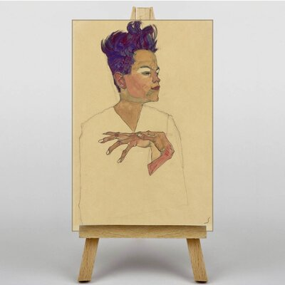 Big Box Art Portrait by Egon Schiele Art Print on Canvas