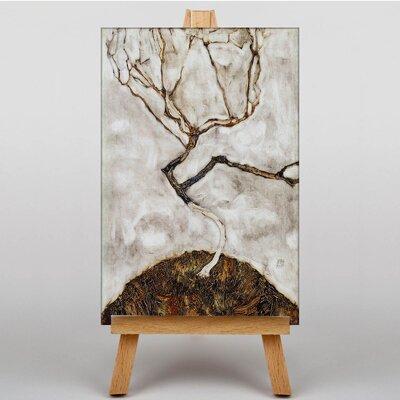 Big Box Art Tree in Late Autumn by Egon Schiele Art Print on Canvas