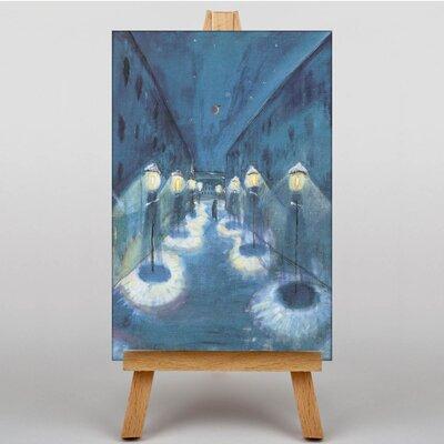 Big Box Art Night Road by Walter Gramatte Art Print on Canvas