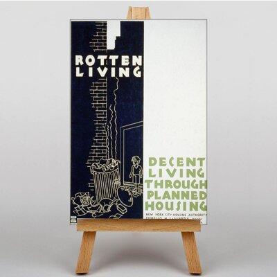 Big Box Art Rotten Living Vintage Advertisement on Canvas