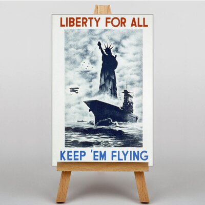 Big Box Art Liberty for All Vintage Advertisement on Canvas