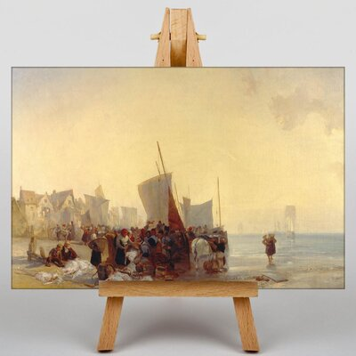 Big Box Art Fishmarket by Richard Bonington Art Print on Canvas