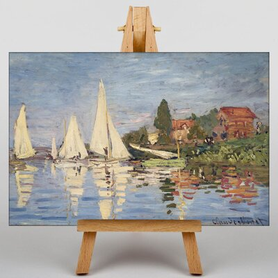 Big Box Art Regattas at Argenteuil by Claude Monet Art Print on Canvas