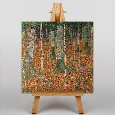 Alpen Home Birch Forest by Gustav Klimt Art Print on Canvas