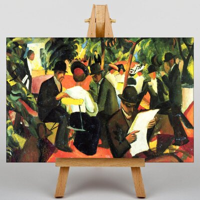 Big Box Art Seated People by August Macke Art Print on Canvas