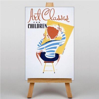 Big Box Art Art Classes Vintage Advertisement on Canvas