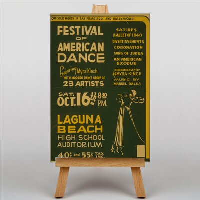 Big Box Art American Dance Vintage Advertisement on Canvas