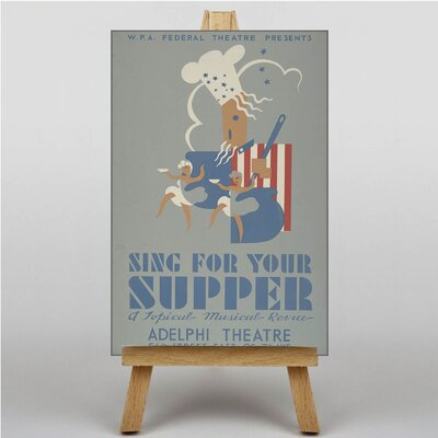 Big Box Art Sing for Your Supper Vintage Advertisement on Canvas