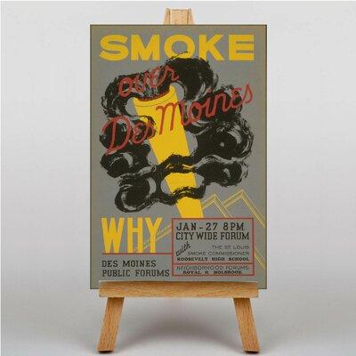 Big Box Art Smoke Vintage Advertisement on Canvas