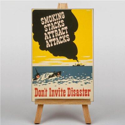 Big Box Art Smoking Attracts Attacks Vintage Advertisement on Canvas