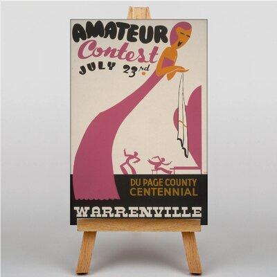 Big Box Art Amateur Contest Vintage Advertisement on Canvas