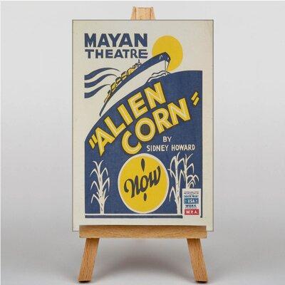 Big Box Art Alien Core Vintage Advertisement on Canvas
