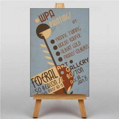 Big Box Art Art Gallery Vintage Advertisement on Canvas