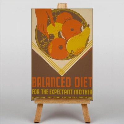 Big Box Art Balanced Diet Vintage Advertisement on Canvas
