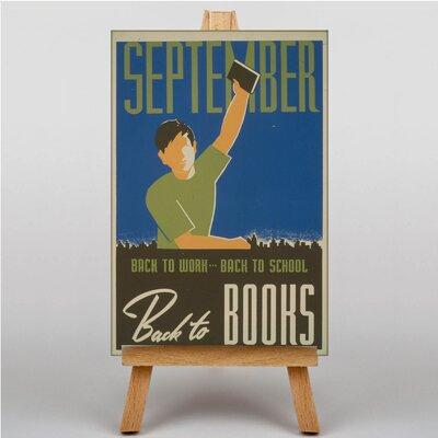 Big Box Art Back to Books Vintage Advertisement on Canvas