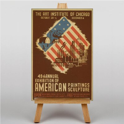 Big Box Art Art Institute of Chicago No.2 Vintage Advertisement on Canvas