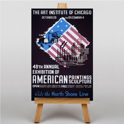 Big Box Art Art Institute of Chicago No.3 Vintage Advertisement on Canvas