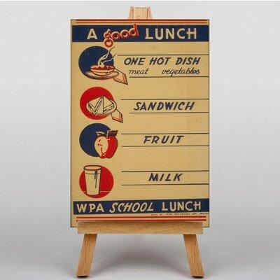 Big Box Art School Lunch Vintage Advertisement on Canvas