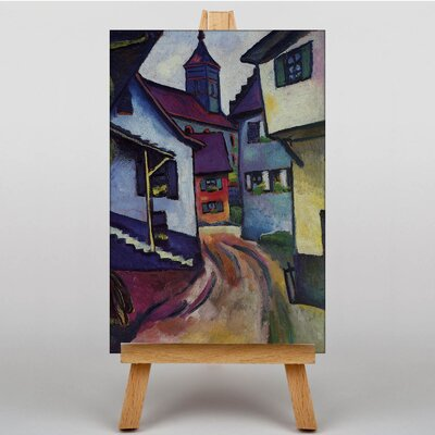Big Box Art Street with Church by August Macke Art Print on Canvas