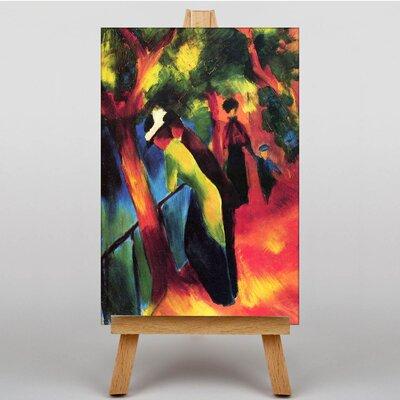 Big Box Art Sunny Way by August Macke Art Print on Canvas