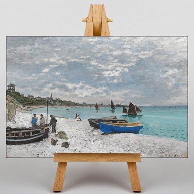 Big Box Art The Beach at Sainte-Adresse by Claude Monet Art Print on Canvas