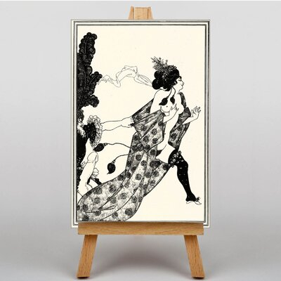 Big Box Art Naked Lady by Aubrey Beardsley Canvas Wall Art
