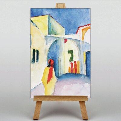 Big Box Art View into a Lane by August Macke Art Print on Canvas