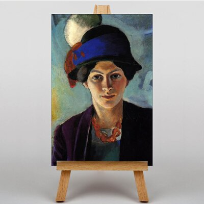 Big Box Art Portrait of a Woman by August Macke Art Print on Canvas
