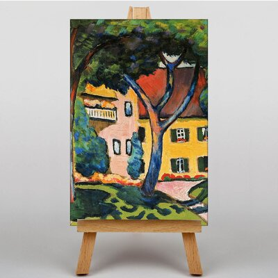 Big Box Art House in Tagersee by August Macke Art Print on Canvas