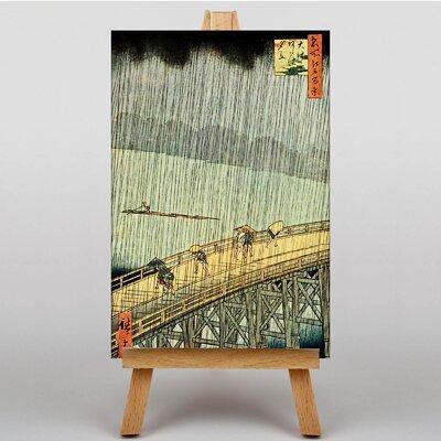 Big Box Art Ichiryusai Bridge in Rain Japanese Oriental by Hiroshige Art Print