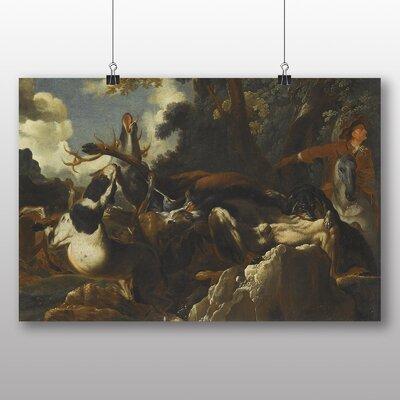 Big Box Art 'A Stag Hunt' by Abraham Hondius Art Print