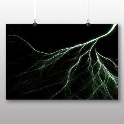 Big Box Art Abstract Lightening No.6 Graphic Art Wrapped on Canvas