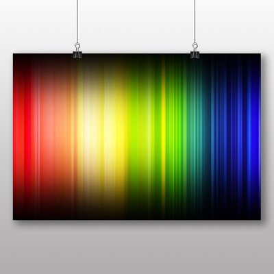 Big Box Art Abstract Rainbow Lines Graphic Art on Canvas