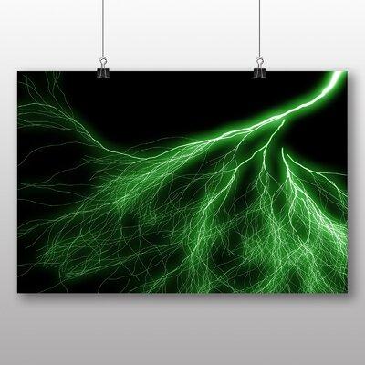 Big Box Art Abstract Lightening No.5 Graphic Art on Canvas