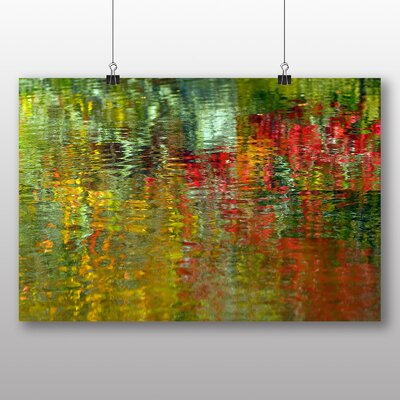 Big Box Art Abstract Water Reflections Graphic Art Wrapped on Canvas