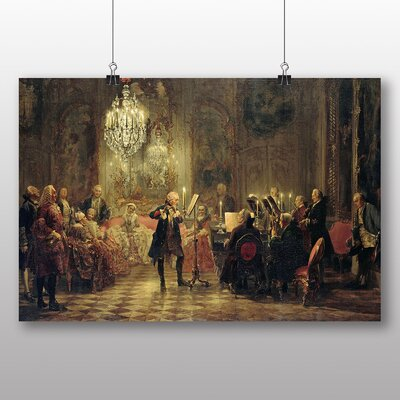 Big Box Art 'Flute Concert' by Adolph Menzel Art Print