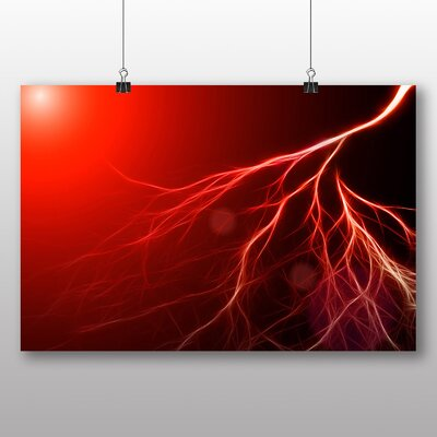 Big Box Art Abstract Lightening No.2 Graphic Art Wrapped on Canvas