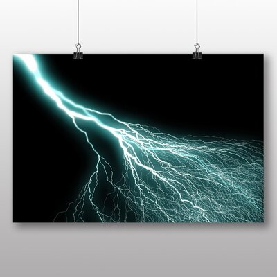 Big Box Art Abstract Lightening No.8 Graphic Art